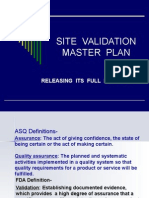 13751948 Site Validation Master Plan