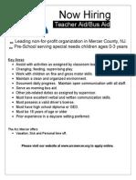 Teacher Aid / Bus Aid