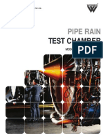 Pipe Rain Test Chamber