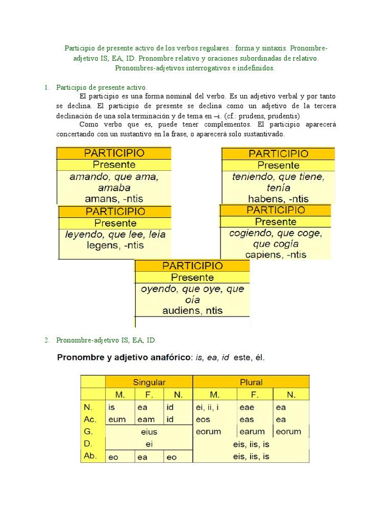 Sinopsis Tema 8 Latín I Word