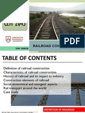 Railroad Construction | Rail Transport | Train