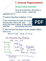 4_7 Inverse Trig Functions LESSON NOTES Pp