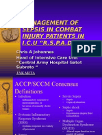 Management of Sepsis in Combat Injury Patients In