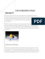 Planning of Construction Project