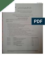 Examen de passage Synthèse 2.1 Session Septembre 2014