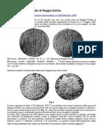 La Prima Moneta Datata Di Reggio Emilia