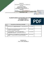 Model Planificare Activitati Extrascolare