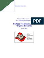 Tratament supr folosind solventi org. E