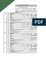 Daftar Analisa Pekerjaan