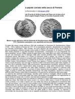 Una Singolare Moneta Papale Coniata Nella Zecca Di Ferrara