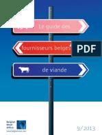 Guide de Fournisseurs Belge de Viande 2013