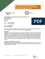 ECDL_ICDLAdvancedPresentationSyllabusVersion2.01