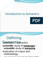 1. Introduction to Semantics (1)