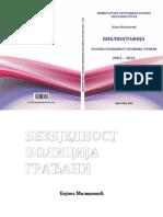 Bibliografija Casopisa Bezbjednost 2015