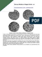 Le Monete Di Azzo D'Este Per Modena e Reggio Emilia - Un Aggiornamento
