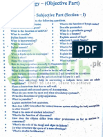 Biology Inter Part 1 Guess Paper 2015 Lahore Board
