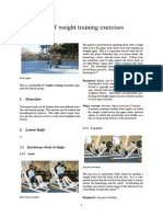 List of Weight Training Exercises