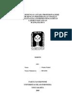 Analisis Hubungan Antara Profesionalisme Auditor Dengan Pertimbangan Tingkat Materialitas Dalam Proses Pengauditan Laporan Keuangan