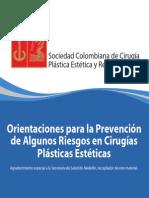 Cartilla SCCP Orientaciones Para La Prevencion de Algunos Riesgos en Cirugias Plasticas Esteticas