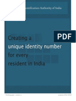 Creating a Unique Identity for Every Resident in India