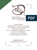 Meniu Restaurant Scapino