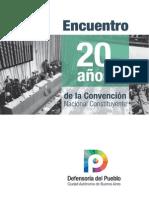 Encuentro - 20 Años de La Convención Nacional Constituyente