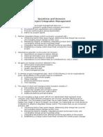 PMP Integration Questions