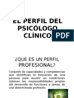Perfil Del Psicologo Clinico