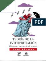 Teoria de La Interpretacion