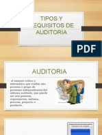 Tipos y Requisitos de Auditoria