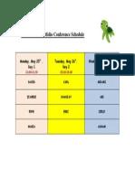student-led portfolio schedule 2