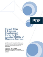 Project Proposal E Business Portal Based on Proposal Format