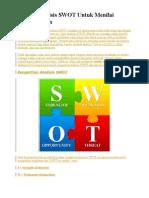 Contoh Analisis SWOT Untuk Menilai Perusahaan