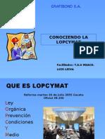 Conociendo La LOPCYMAT 1