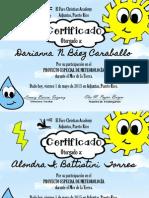 certificado meteorología