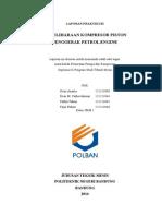 Laporan Pemeliharaan Kompresor Piston Petrol Engine