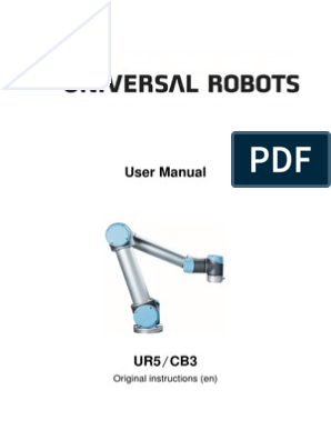 UR5 User Manual GB | Screw | Robot