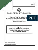 Panduan Pendaftaran Calon MUET (MUET_D1) Sesi November 2015