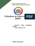Polietilena de inalta densitate HDPE