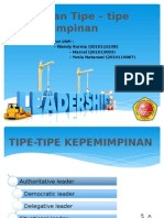Teori Dan Tipe – tipe Kepemimpinan.pptx
