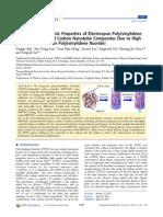 2013-Enhanced Piezoelectric Properties of Electrospun Poly(Vinylidene Fluoride)Multiwalled Carbon Nanotube Composites Due to High β‑Phase Formation in Poly(Vinylidene Fluoride)