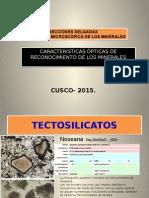 secciones delgadas tectosilicatos