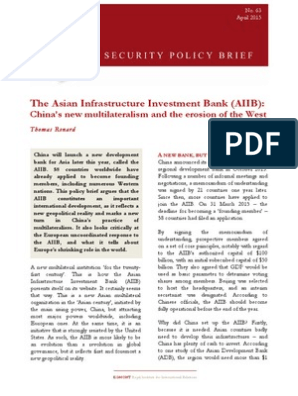 asian infrastructure investment bank pdf