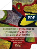 Experiencias y Propuestas de Investigacion y Docencia en La Creacion