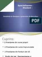 Modalități de finanţare a proiectelor de dezvoltare