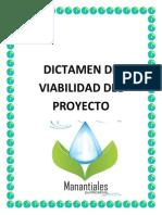 dictamen de viabilidad del proyecto