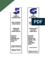 TULANG Kursus Elektif (40MM) -s.1 T.2-1