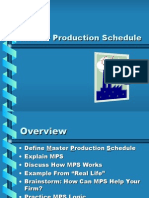 Master Production Schedules