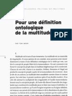 Negri - Definition Ontologique de La Multitude