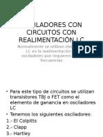 Osciladores Con Circuitos Con Realimentación Lc(II Seg)